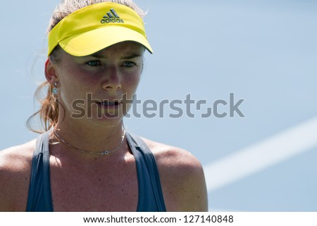 PATTAYA THAILAND - JANUARY 31: Daniela Hantuchova of Slovakia in action during 1st round of PTT Pattaya Open 2013 on January 31, 2013 at Dusit Thani Hotel in Pattaya, Thailand