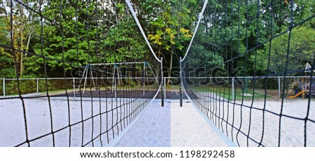 Pattern created with both sides of a single volleyball net merged into one photo
