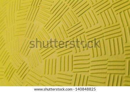 Pattern Design of Yellow Rubber Ball.
