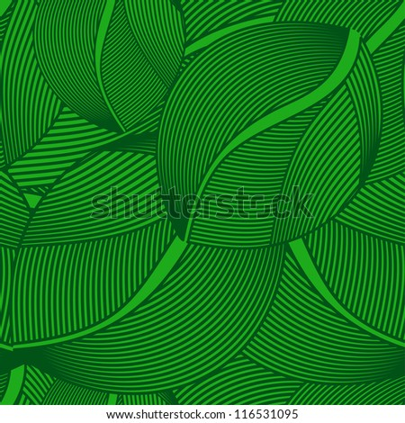 pattern - green leaf seamless