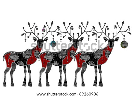 pattern in ethnic style white background