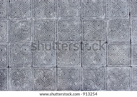 Pattern made by concrete tiles