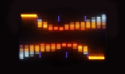 pattern made from hifi graphic equalisers