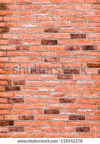 pattern  modern style  design decorative  red brick wall surface with cement