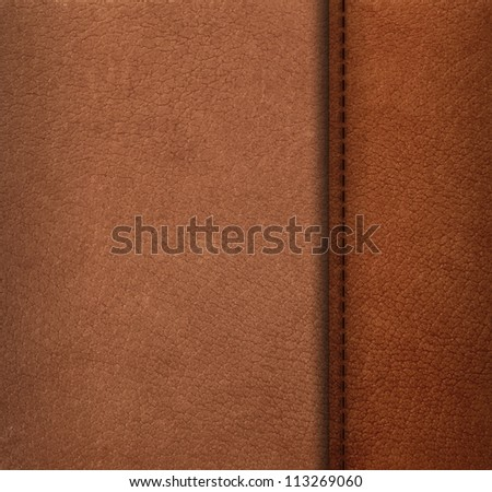 Pattern of artificial leather surface with thread