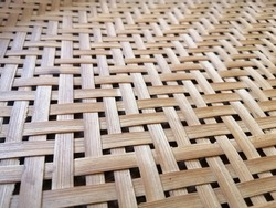 Pattern of bamboo weave in Thai style background. The texture, detail of bamboo weaving, in Thai traditional wisdom style.