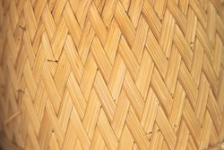 Pattern of bamboo weaving concept background