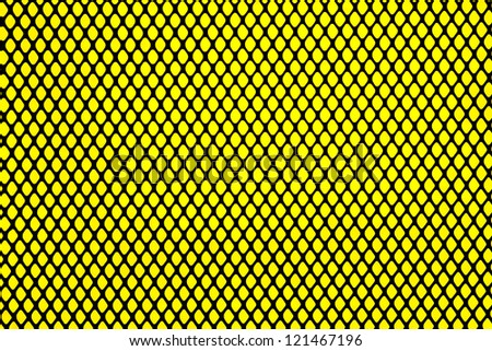 Pattern of black grill on yellow background