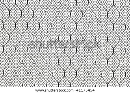 pattern of black lace fabric against white background
