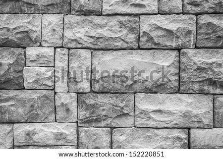 Pattern of block stones wall