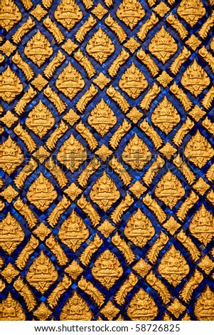 Pattern of Buddhist temple.
