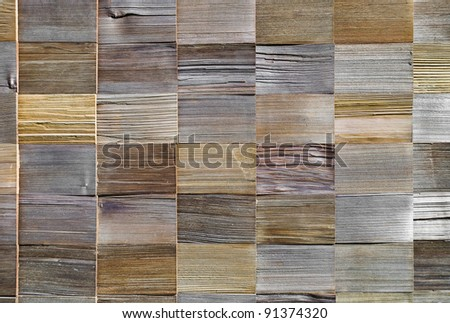 pattern of cedar wood decoration on wall
