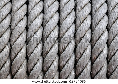 Pattern of coil rope for background