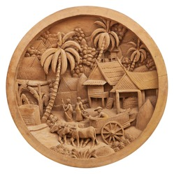 Pattern of culture carved on wood