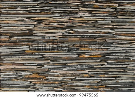 pattern of decorate Slate Stone wall