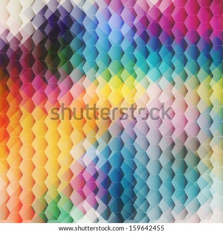 Pattern of geometric shapes, Geometric Background with flow of spectrum effect, colorful