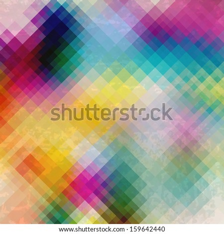 Pattern of geometric shapes, Geometric grunge Background with flow of spectrum effect, colorful
