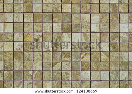 pattern of Mosaic on a decorate wall