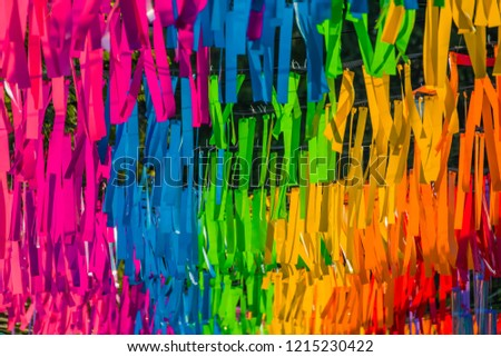 pattern of multicolored plastic background. #1215230422