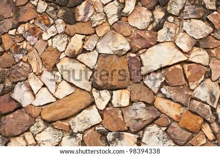 pattern of rock wall