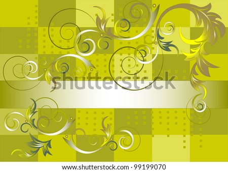 Pattern of rounded leaves on a green background