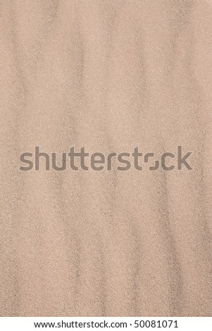 Pattern of sand after wind blowed - stock photo