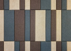 Pattern of soundproof material made from silk.Acoustic board pattern for wall paneling.