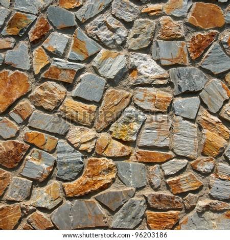 pattern of traditional stone brick wall