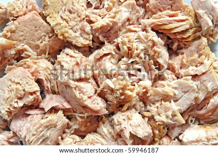 Pattern of Tuna Meat in Mineral Water for Steak and Sandwich using  as background