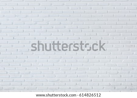 Pattern of white brick wall for background and textured, Seamless white brick wall background #614826512