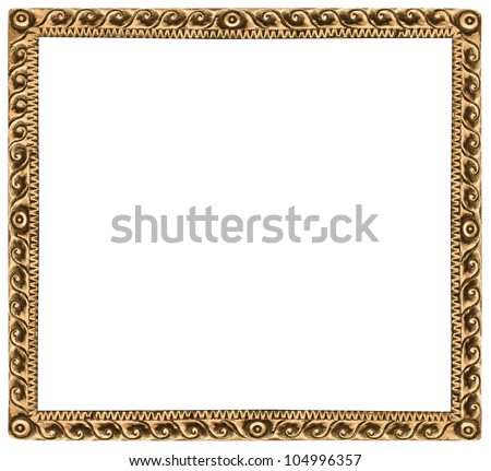 Pattern of wood frame carve on white background