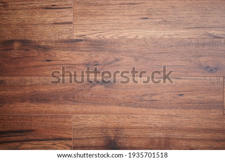 Pattern of wooden plank brown dark color close up view