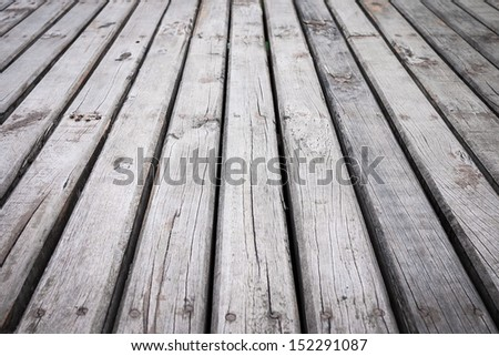 Pattern of wooden planks