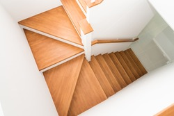 Pattern of Wooden stairs in the house.