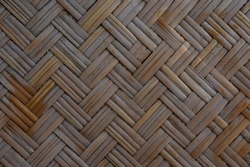 Pattern of Zig Zag Bamboo Weave, Simply use for background in weave theme