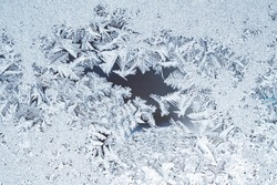 Pattern on the frosted winter window