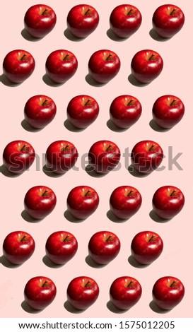 Pattern red apples nice wallpaper