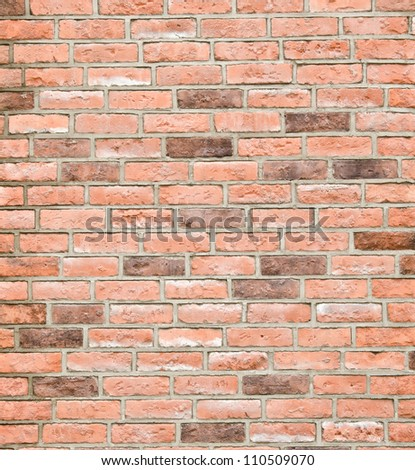 pattern red color of modern style  design decorative  brick  wall surface with cement