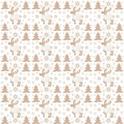 pattern seamles christmas reindeer white