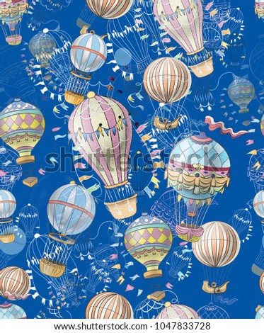 pattern seamless with balloons