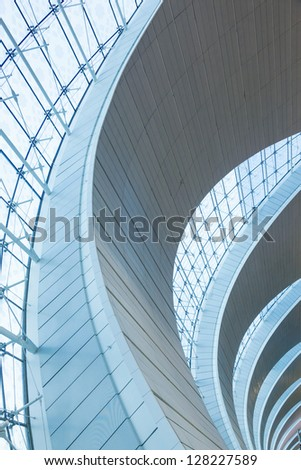pattern set roof at the airport - stock photo