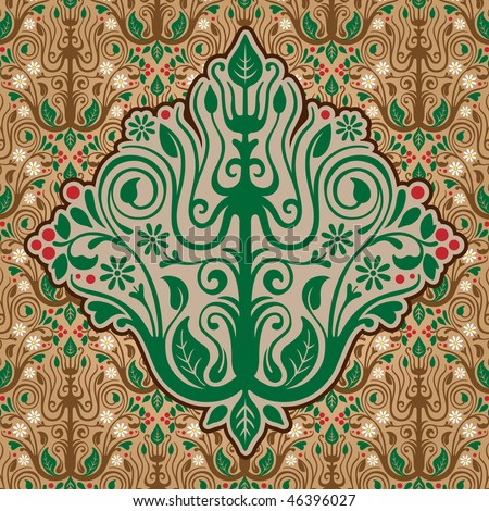 Pattern tree in the background of wallpaper. Vector illustration