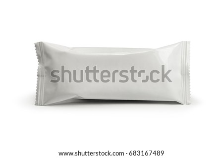 pattern white packaging for snack #683167489
