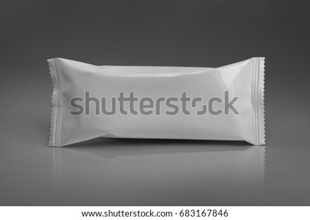 pattern white packaging for snack #683167846