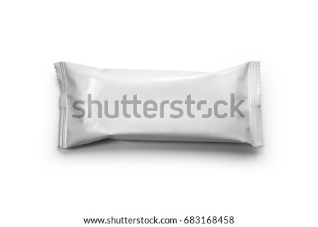 pattern white packaging for snack #683168458