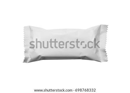 pattern white packaging for snack #698768332