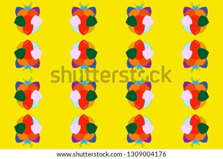 pattern with abstract shapes