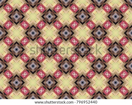 Pattern with yellow rhombus and brown rhombus. #796952440
