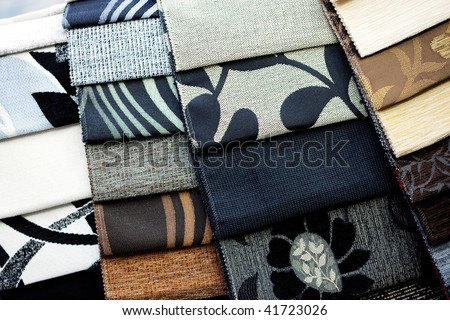 patterned fabric samples