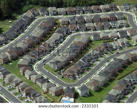 Patterns found in contemporary American suburban housing developments.